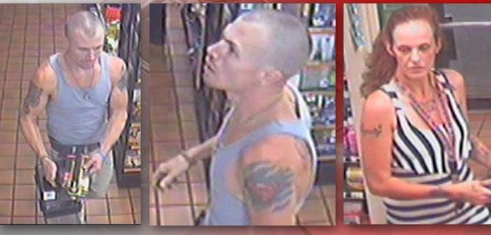 Policía busca dos personas acusadas de robar en una gasolinera