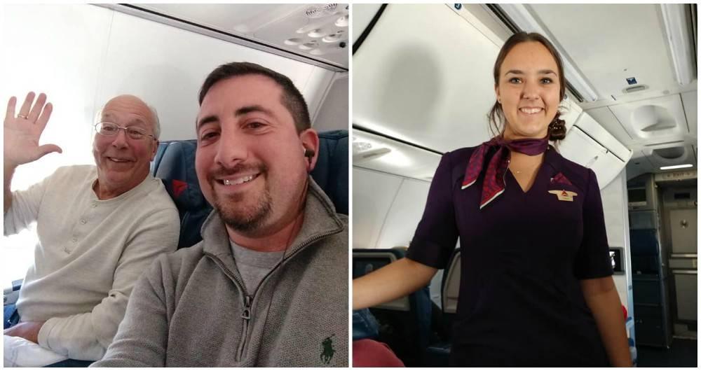 Padre de azafata la acompañó en todos sus vuelos para poder estar con ella en Navidad