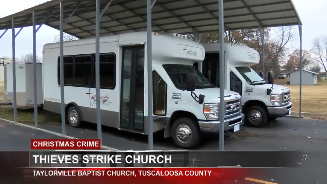 Robo de partes del autobus de la Iglesia Bautista de Taylorville