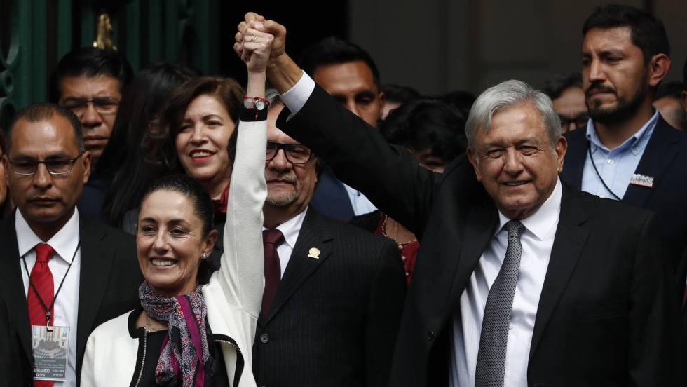 1 Claudia Sheinbaum y Lopez Obrador