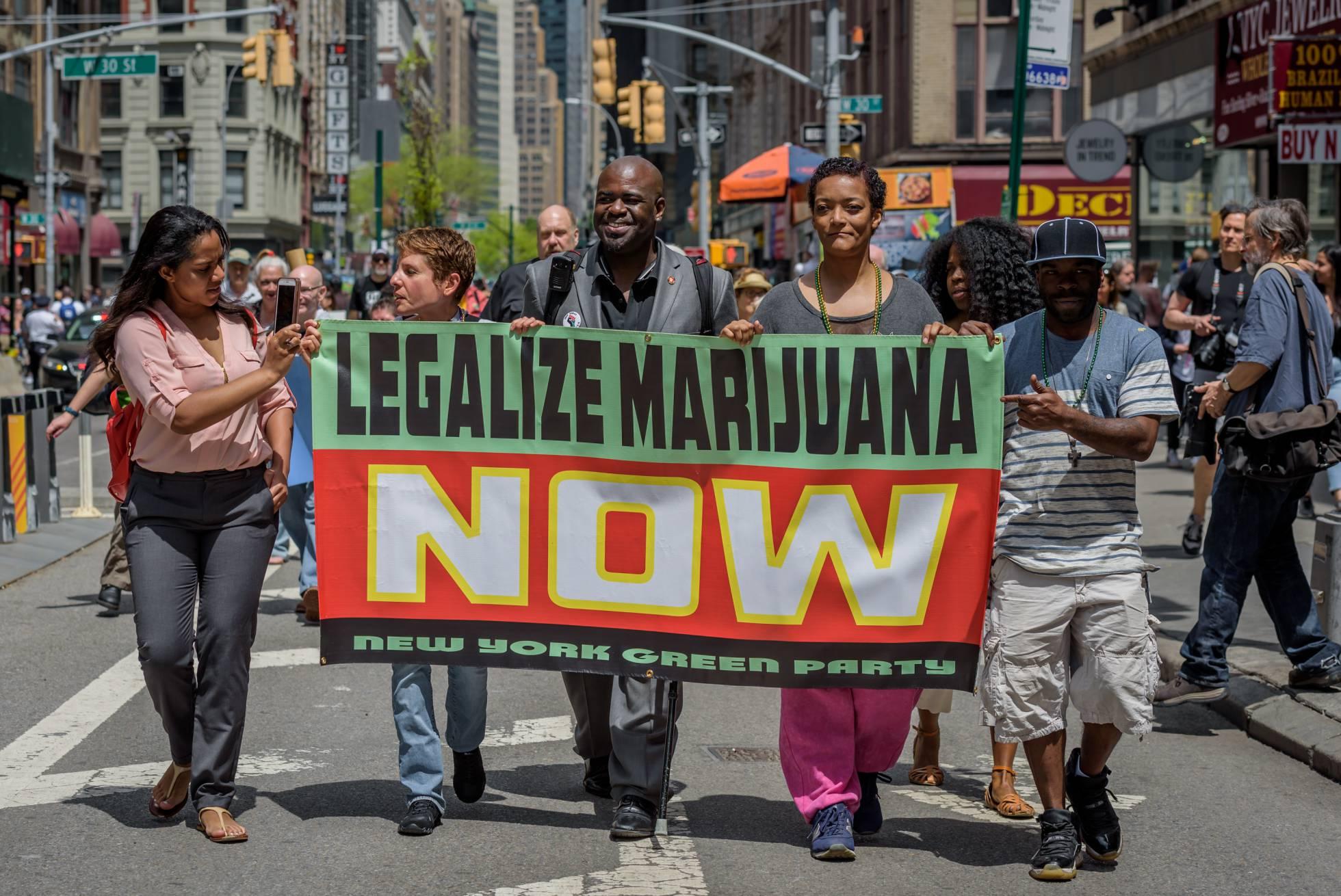 manifestacion a favor de marihuana
