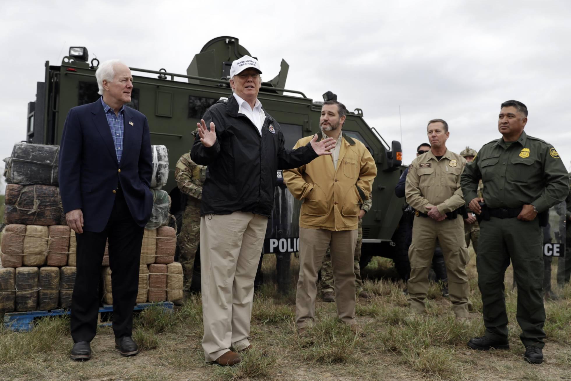 trump en la frontera