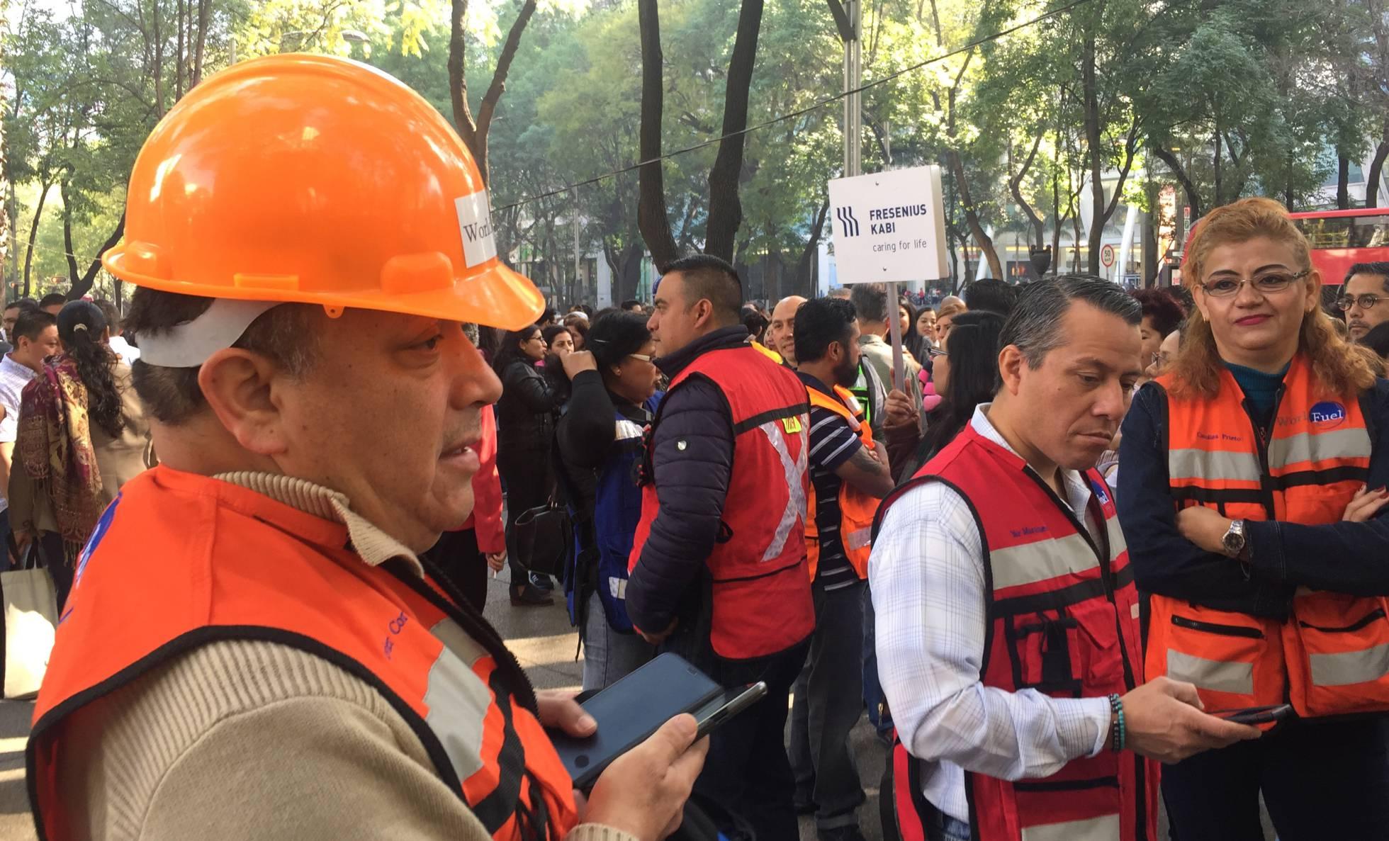 personas evacuadas sismo