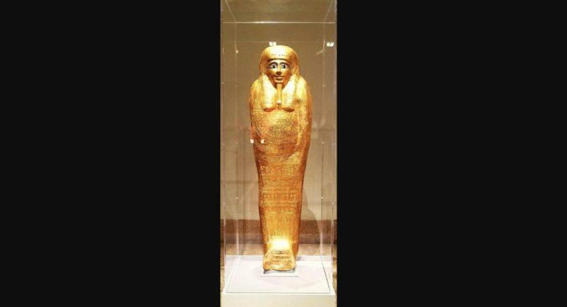 Museo regresará sarcófago de oro a Egipto