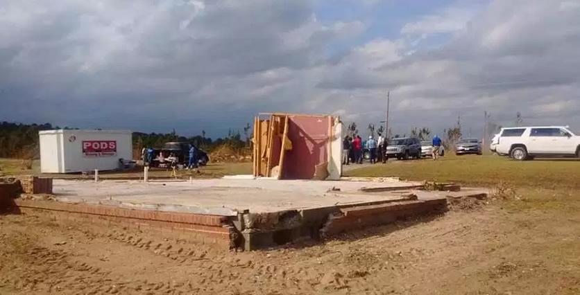 ¡Milagro! Tornado en Alabama destruye casa y solo queda de pie cuarto de oración