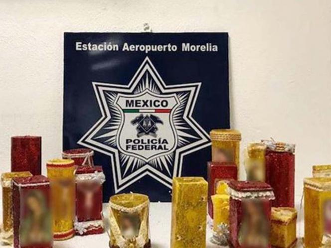 Policía Federal detecta metanfetaminas en veladoras
