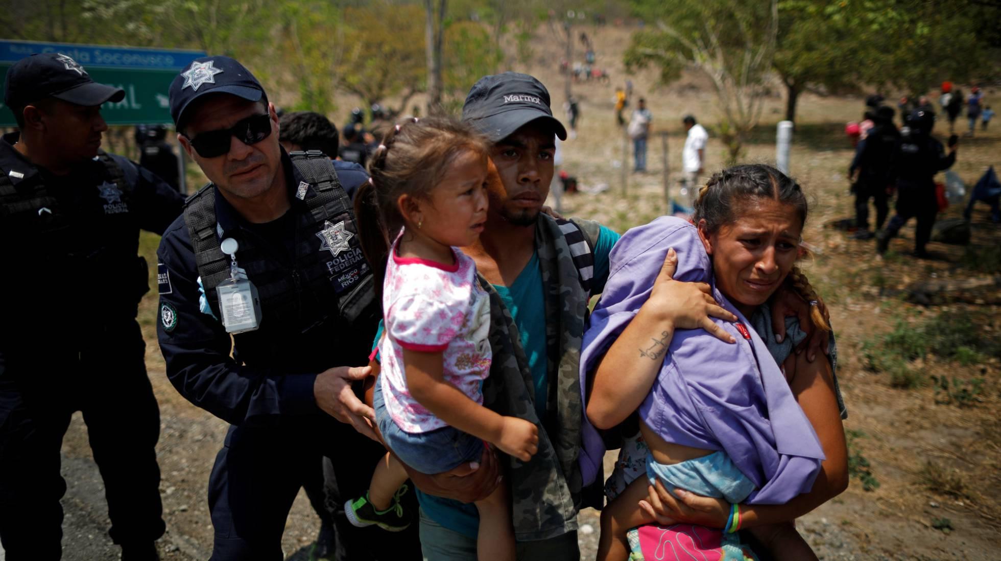1 grupo de migrantes