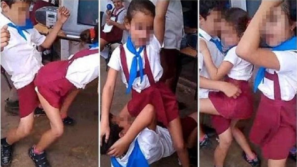 ninos bailando reggaeton en escuela