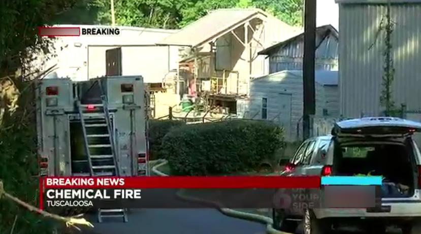 Incendio en planta química en Tuscaloosa