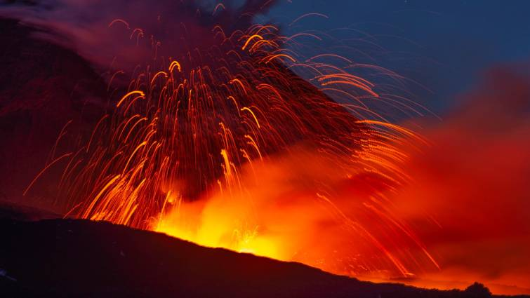 italy etna volcan