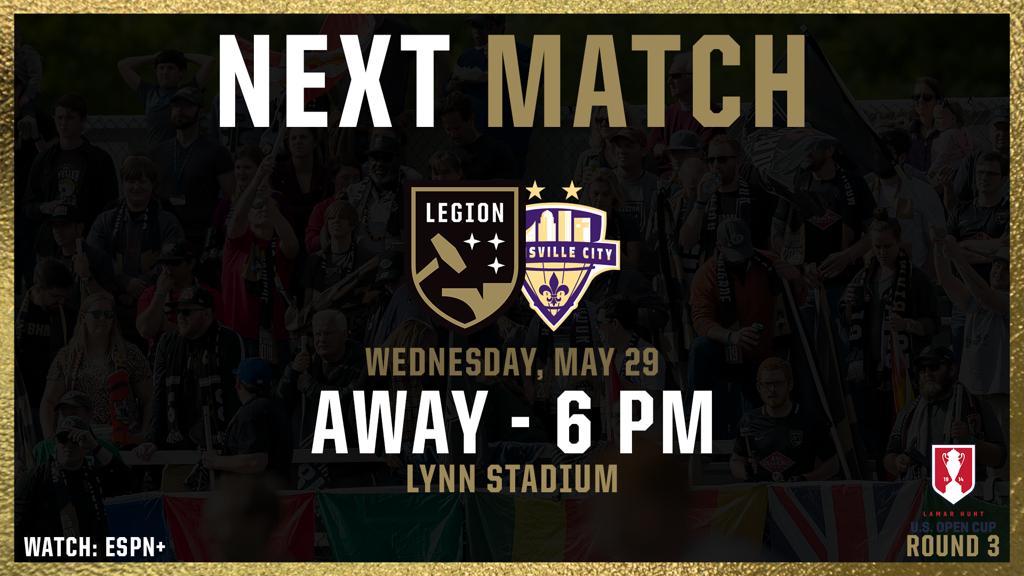 Legion Birmingham se enfrenta a su rival Louisville City como visitante