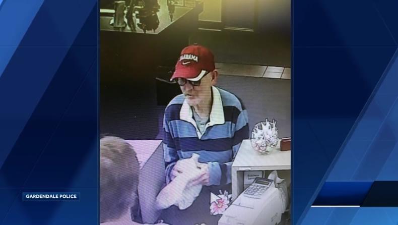 Hombre acusado de robos a bancos de Homewood y Gardendale