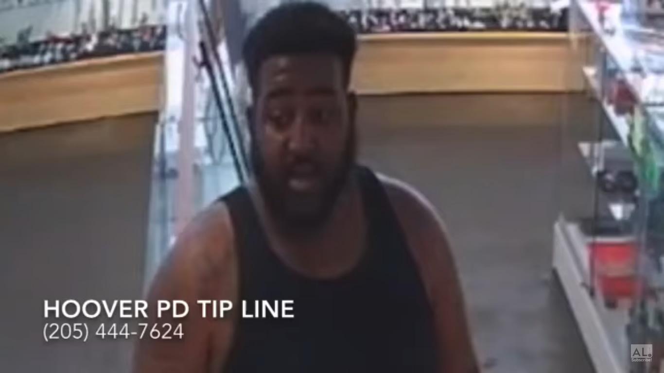 hombre robo tienda en Hoover