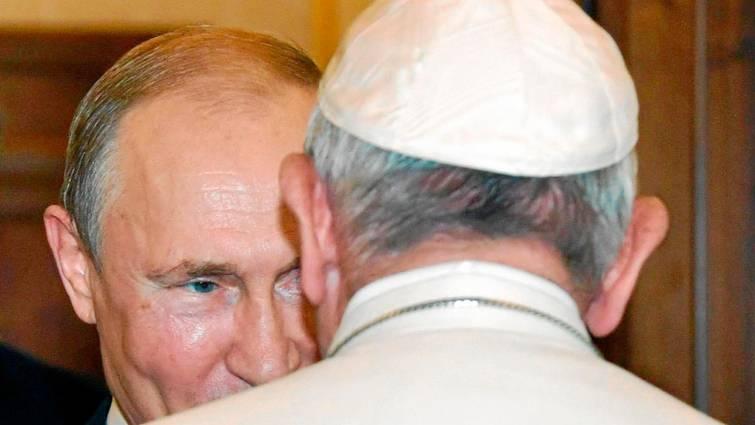 putin y el papa francisco