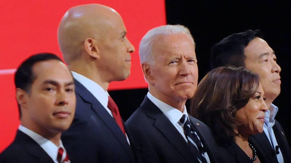 Biden concentra los ataques de los rivales demócratas