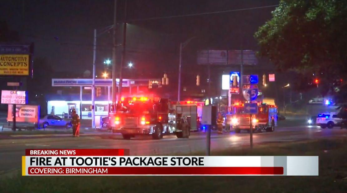 Incendio en Birmingham Package Store