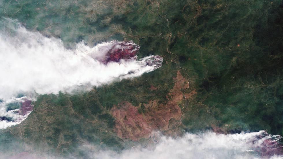 Tres millones de hectáreas de bosques arden en Rusia