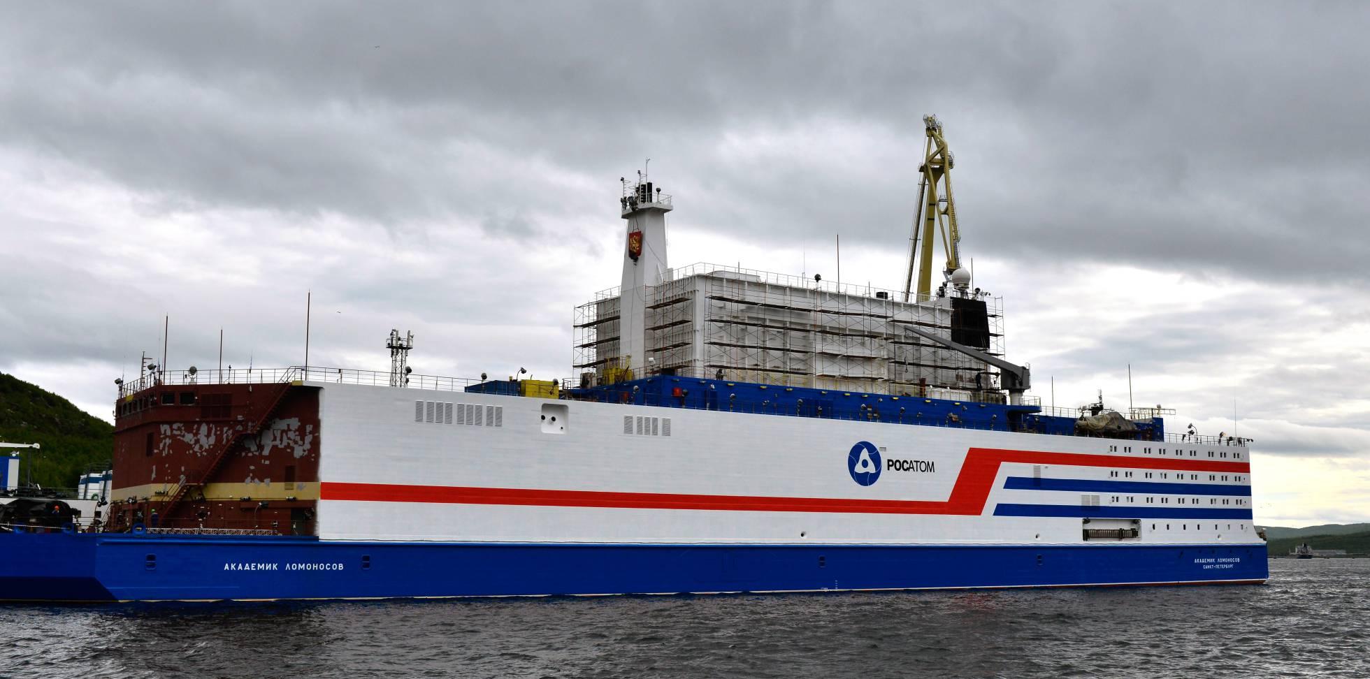 Rusia pone en servicio su primer reactor nuclear flotante en el Ártico