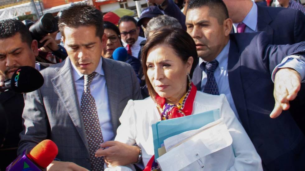 Rosario Robles a su llegada al Reclusorio Sur