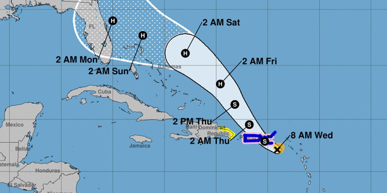 Tormenta Dorian a punto de convertirse en huracán mientras se acerca peligrosamente a P. Rico