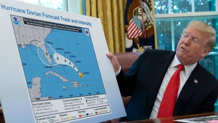 Dorian, el huracán que podría llevar a Trump a los tribunales