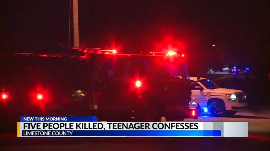 Adolescente del condado de Limestone, confiesa haber matado a 5 familiares