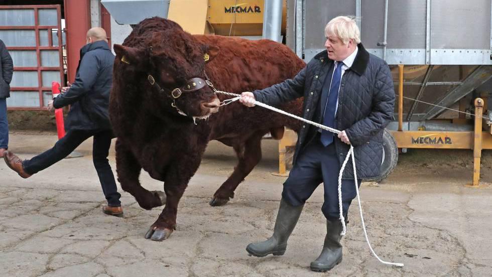 Boris Johnson en Escocia