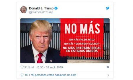 tweet trump inmigracion