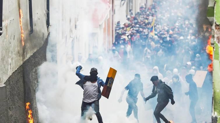 Las protestas en Ecuador por la subida del combustible dejan ya 5 muertos