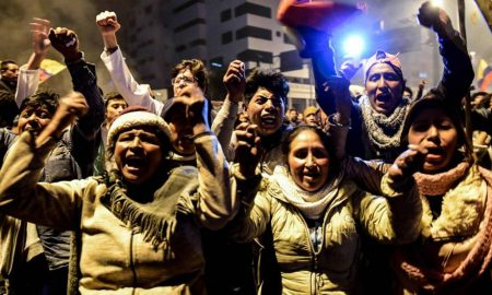 activistas indigenas celebran en quito