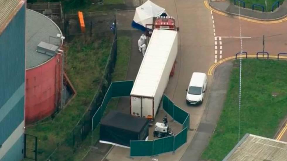 imagen camion con 39 cadaveres