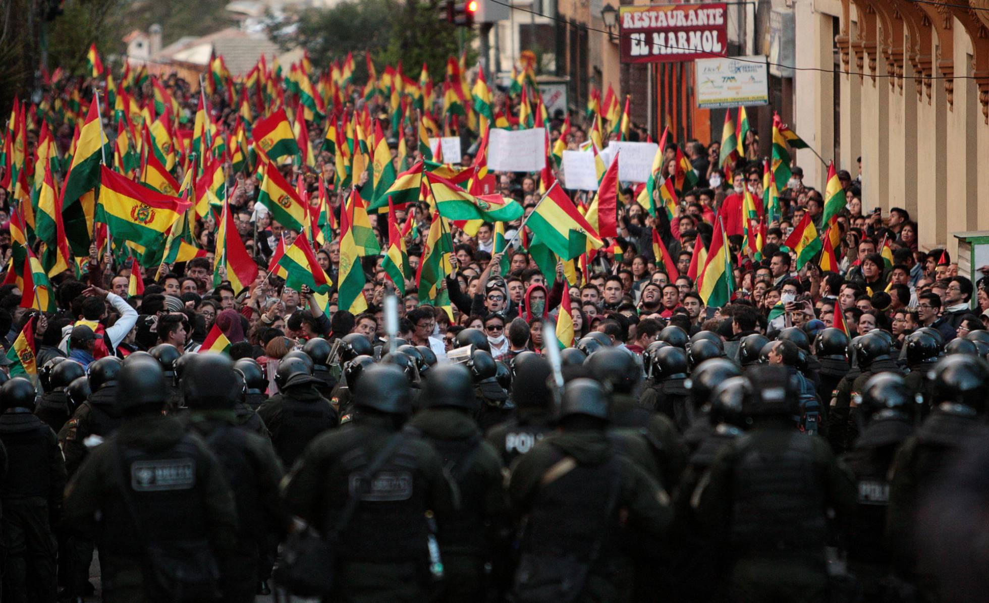 protesta en La Paz Bolivia