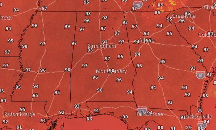 temperaturas en Alabama