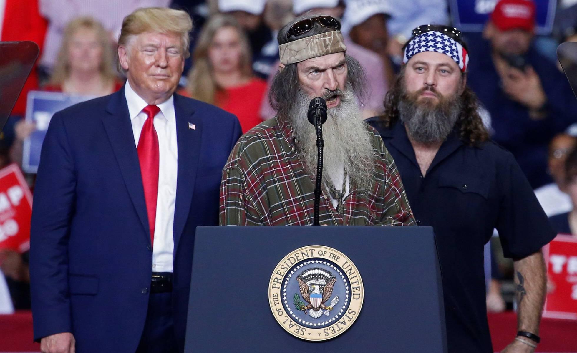 Donald Trump Phil Robertson y Willie Robertson