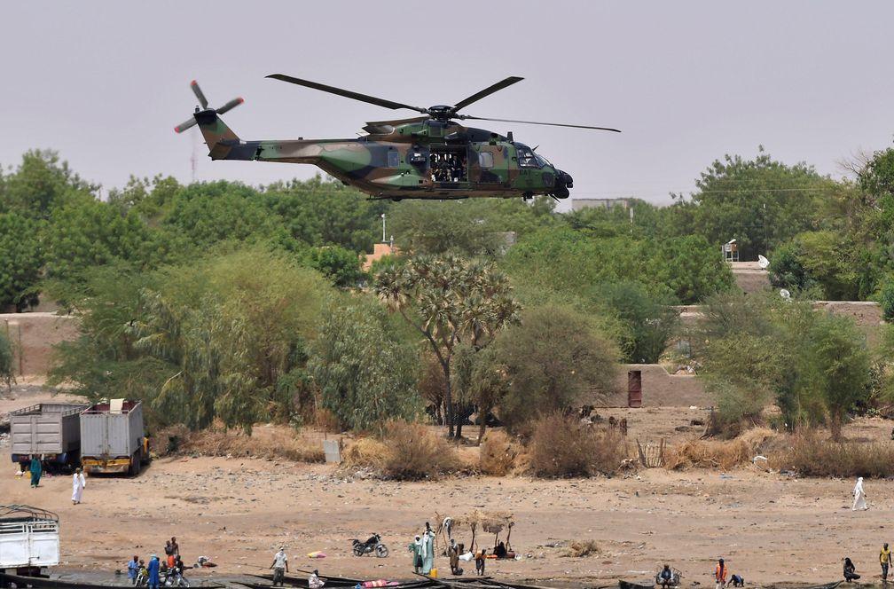 Helicoptero en Gao Mali