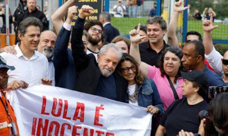 Lula Da Silva sale de prision
