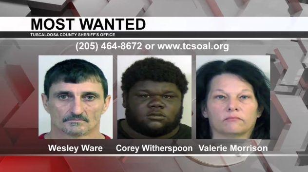 Los más buscados de Tuscaloosa