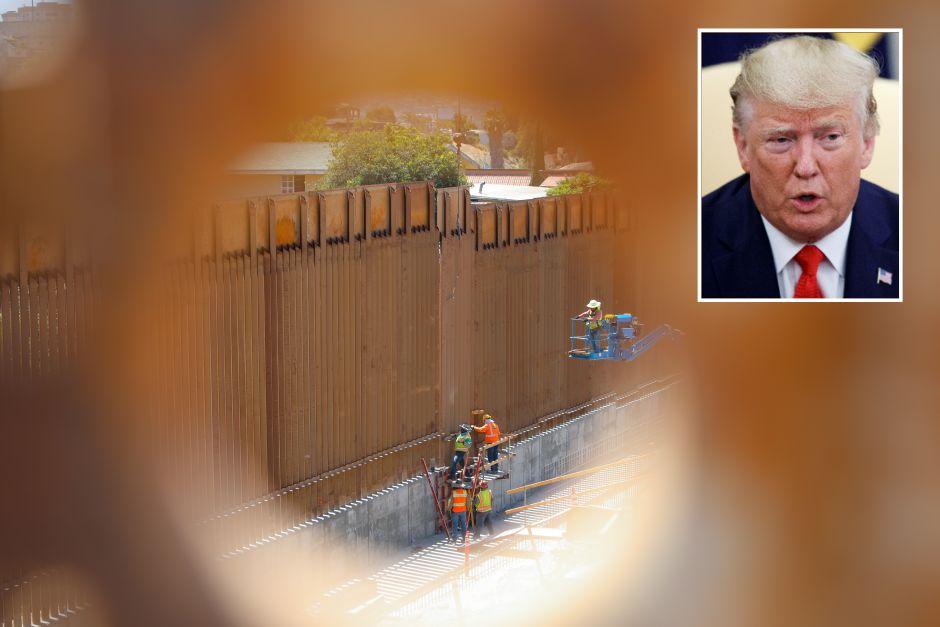 Trump asegurando q el muro era impenetrable