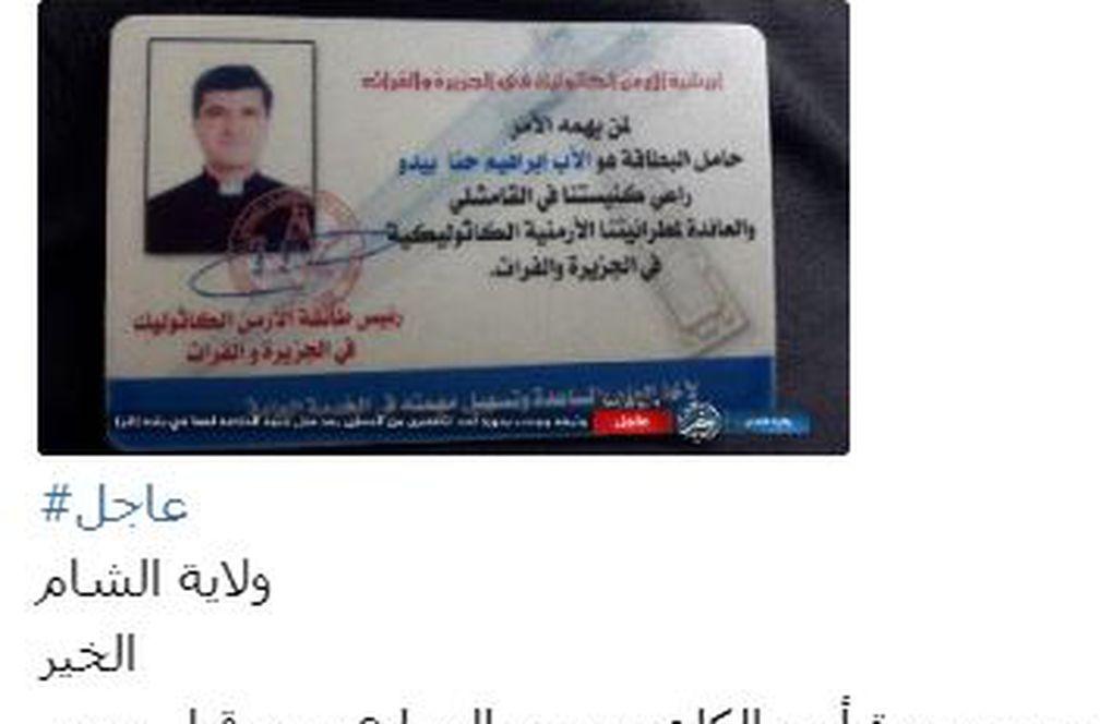 El Estado Islámico mata a dos sacerdotes católicos en Siria