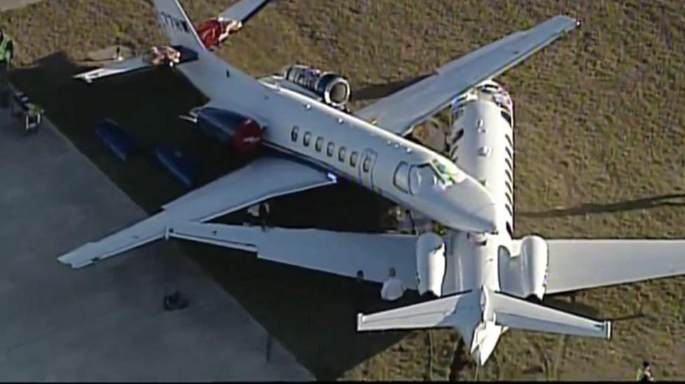 choque de aviones aeropuerto texas san antonio