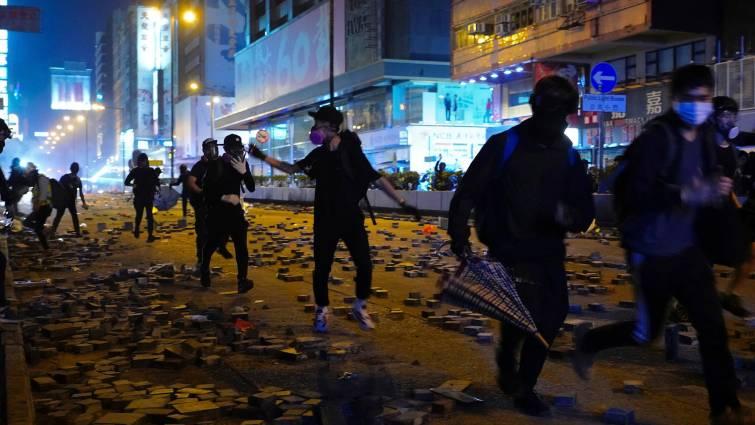 Violencia en la Universidad Politécnica de Hong Kong