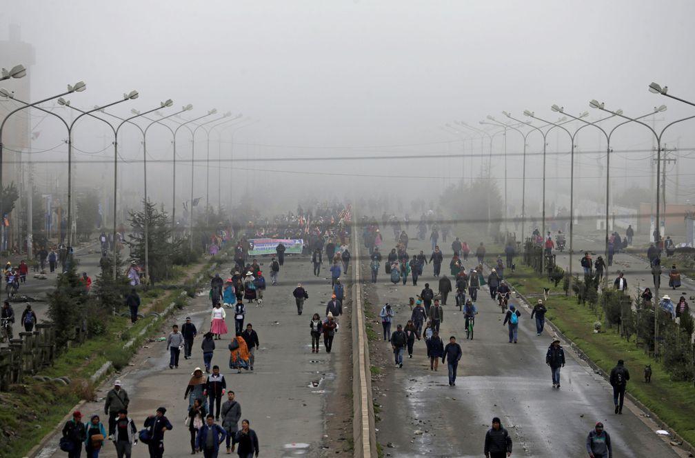 manifestacion Bolivia