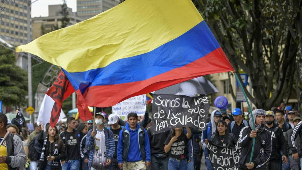 protesta en calles de Bogota