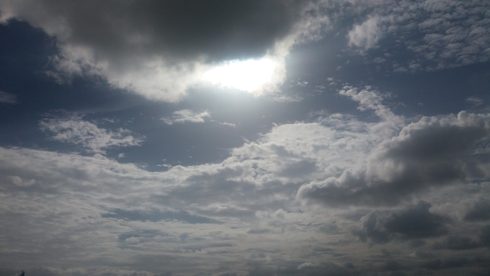 Amazing clouds and Sun