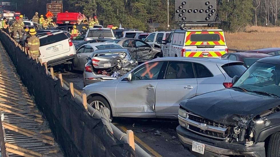 Un choque múltiple entre 69 vehículos deja al menos 51 heridos en Estados Unidos
