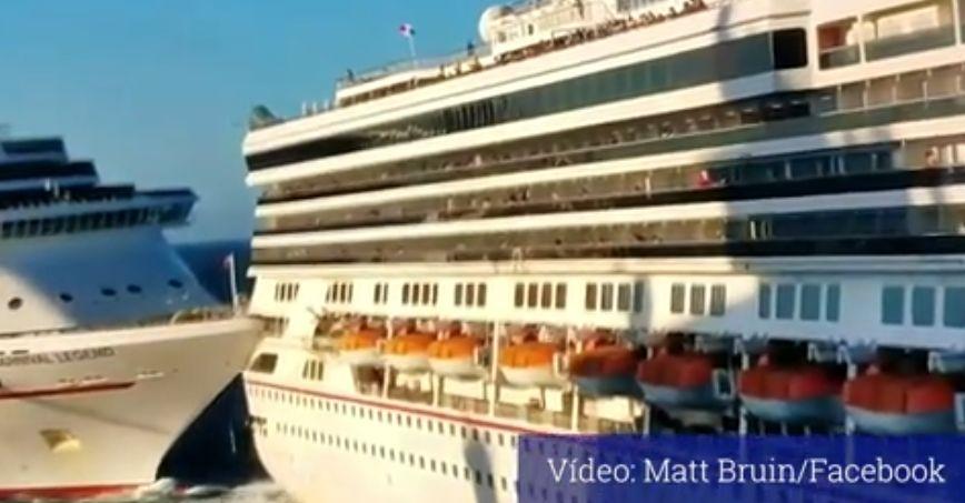 Dos cruceros chocan en el puerto mexicano de Cozumel