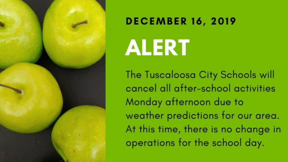 cierre escuelas tuscaloosa