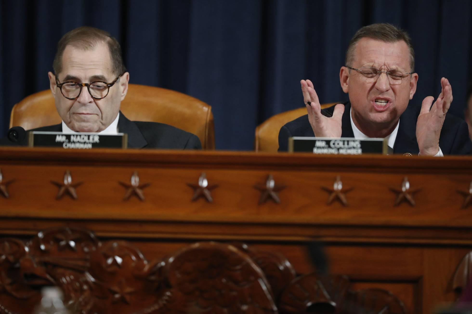 El Comité Judicial aprueba los dos artículos del 'impeachment' a Trump tras 14 horas de tenso debate