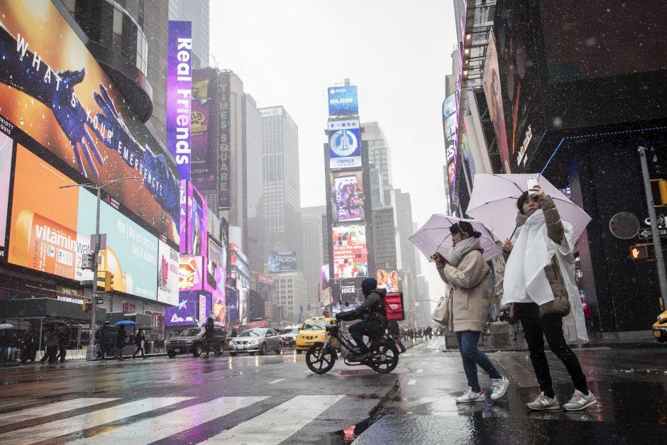 lluvia y aguanieve nueva york