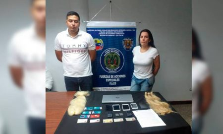 Aida Merlano y acompanante en Venezuela
